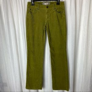 J Crew Olive Green Corduroy Bootcut Jeans 4R